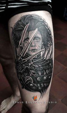 Edward Scissorhands Tattoo by Italo Esquivel Studio , via Behance