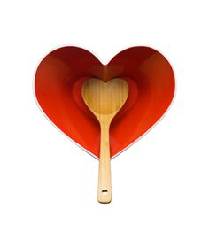 Holiday Heart Serving Bowl With Ladle  To buy: $40 #gifts