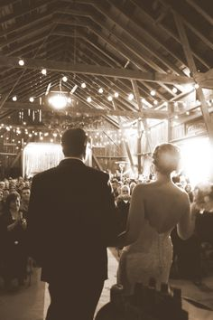 country barn wedding, I now pronounce you Mr. & Mrs...