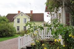 ..and in this beautiful yellow house the Lindgren family moved when little Astrid was 12. It was her inspiration then for the home of Pippi Longstocking.