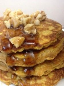Protein Pumpkin Paleo Pancakes and other Paleo breakfast recipes on MyNaturalFamily.com #paleo #recipe