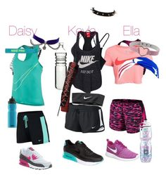 """Gym"" by themazerunnerfangirl on Polyvore featuring interior, interiors, interior design, home, home decor, interior decorating, NIKE, Dot & Bo and SIGG"