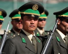 First Graduation of Afghan National Army Officer Cadets at ANAOA Sandhurst in the Sand in Kabul