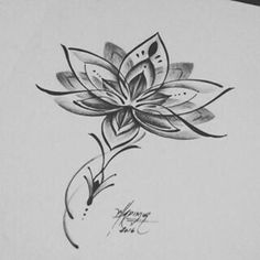 Image result for geometric lotus flower tattoo