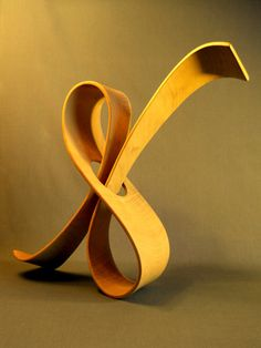 'Arabesque' - hand carved wood sculpture by John McAbery Sculpture Metal, Abstract Sculpture, Metal Art, Wood Art, Sculptures Céramiques, Sculpture Ideas, Hand Carved, Carved Wood, Paperclay