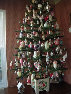 From Darla & Jerry Arnold, Soviet New Years ornaments. Russian blown glass, spun cotton and Dresdens.