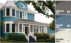 Exterior house paint colors from Olympic® Paints. Stand out from your neighborhood with these exterior paint colors!