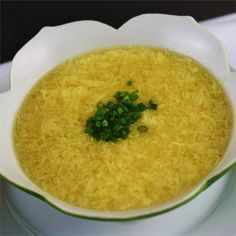 Egg Drop Soup (Better than Restaurant Quality!) whisk in Parmesan & Chopped Parsley into egg first then drop and it is even better, but it is then Italian Bowl Of Soup, Soup And Salad, Good Food, Yummy Food, Tasty, Soup Recipes, Cooking Recipes, Recipies, Sushi Recipes