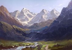 Mountains Concept Art by Nurkhular.deviantart.com on @deviantART