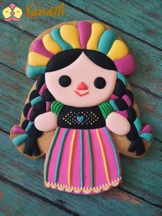 Luau Cookies, Mexican Cookies, Cake Cookies, Charms Candy, Owl Cakes, Iced Biscuits, Dessert Decoration, Mexican Party, Chocolate Art