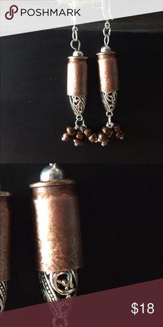 Bullet Earrings, Acid Etched Swarovski Crystal Winchester Bullet Casing Earrings, Swarovski Crystal, Western Bling, Bullet Jewelry, Acid Etching Jewelry Earrings
