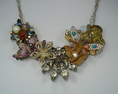Repurposed Vintage Jewelry Statement Necklace by JanetMarieJewelry, $150.00
