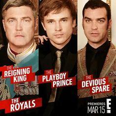 King Simon (Vincent Regan), Prince Liam (William Moseley), & Prince Cyrus (Jake Maskall). #TheMonarchy