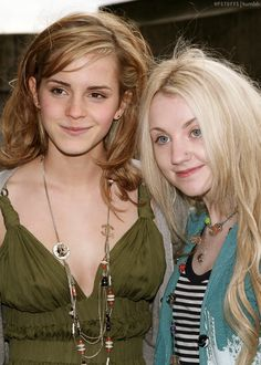 Emma Watson & Evanna Lynch of Harry Potter - Luna Lovegood will always be my favorite.