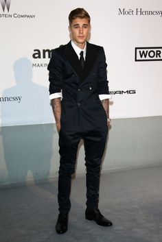 Justin Bieber at the amfar Gala in Cannes 2014