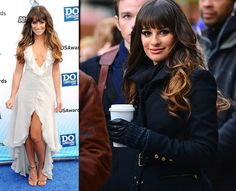 Lea Michele Ombre Hair Style