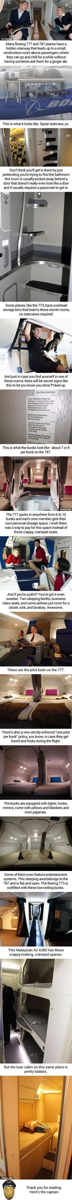 These Are The Secret Rooms Pilots And Flight Attendants Sleep In During Long Flights