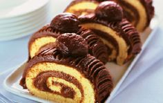 rotolo alle castagne Roll Ups, Love Cake, Biscotti, Waffles, Cheesecake, Muffin, Sweets, Cookies, Breakfast