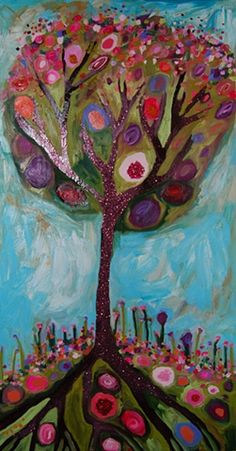 Eli Halpin Oil Paintings - Plum Tree