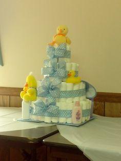 Ducky baby shower diaper cake
