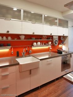 White Kitchen Orange Splashback orange splashback | ideas for the house | pinterest | kitchens and
