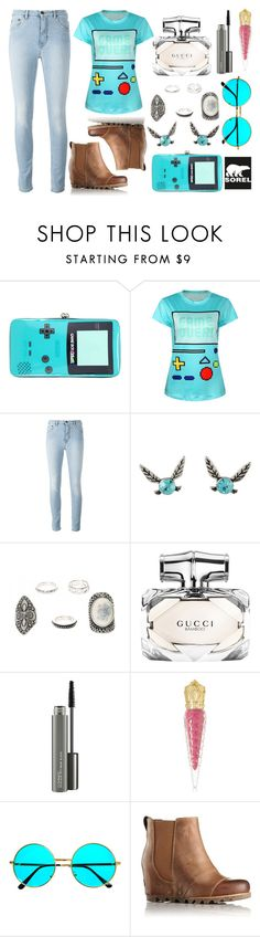 """Kick Up the Leaves (Stylishly) With SOREL: CONTEST ENTRY"" by princess13inred ❤ liked on Polyvore featuring Nintendo, Gucci, MAC Cosmetics, Christian Louboutin and SOREL"