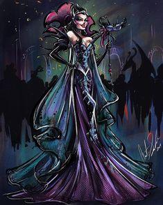 Disney Midnight Masquerade: Queen Narissa by Disney Princess Art, Disney Fan Art, Disney Style, Disney Love, Disney And Dreamworks, Disney Pixar, Punk Disney, Disney Facts, Disney Villains