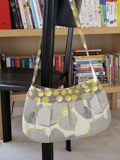 Yellow Gray Buttercup bag by stitch248 on Etsy, $40.00