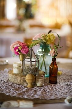 High Point Farm- Vintage centerpiece