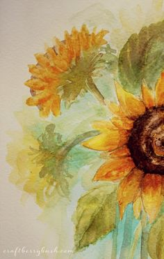 Craftberry Bush: Sunflower watercolors II