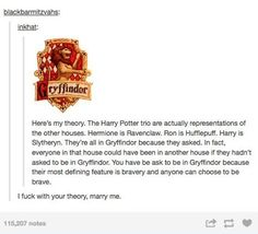 Harry Potter theory from Tumblr
