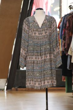 Sunner silk peasant dress