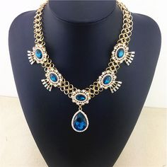 Aliexpress.com : Buy Big Water Drop Design Fashion Necklace Light Blue Crystal Charm Accessories Necklaces & Pendant Factory Price Statement Necklace from Reliable Chain Necklaces suppliers on Women Fashion Jewelry | Alibaba Group