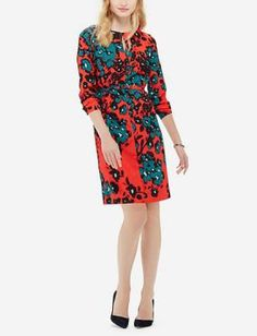 Lucille Mae: The Limited's Printed Belted Shift Dress Print