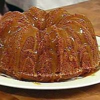 Apple Cake with Caramel Sauce and Bourbon Whipped Cream by Lisa