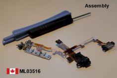 iPhone 3G headphone audio jack flex volume cable w/metal bracket assembly Black    Price = $19.50