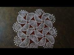 Simple Rangoli Border Designs, Rangoli Borders, Small Rangoli Design, Rangoli Designs With Dots, Rangoli With Dots, Beautiful Rangoli Designs, Kolam Designs, Simple Designs, Indian Rangoli