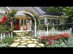 Tiny Front Yard Landscaping Design Ideas - YouTube #landscapingdesignideas