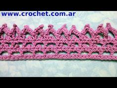 Puntilla N° 39 en tejido crochet tutorial paso a paso. - YouTube
