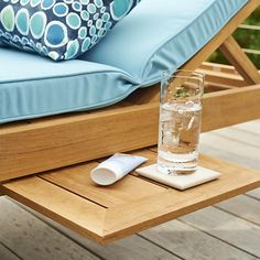 Our exclusive Regatta outdoor collection cuts a clean, classic profile in a bold wide-slat design handcrafted of Grade A plantation-grown teak, the highest quality teak in the world. Certified by the Forest Stewardship Council (FSC), the environmental gold standard, our quality teak is an investment that can weather the elements year after year. Stretch out in four-position chaise lounge with convenient back wheels and the innovation of two pullout trays concealed beneath.