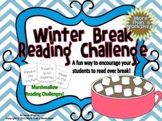 Winter Break Marshmallow Reading Challenge -- My students had a blast with this over Thanksgiving, so we are doing it again for Christmas Break!