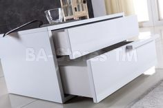 Dolce Right Side Nightstand in White by CasaBianca