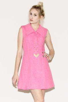 Vintage 1960s Studded Shift Dress http://thriftedandmodern.com/vintage-1960s-studded-dress#