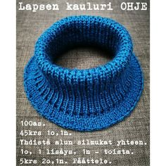 Helppo ohje kauluriin Knit Crochet, Knitting, Crafts, Fashion, Moda, Manualidades, Tricot, Fashion Styles, Breien