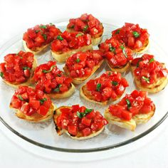 One Perfect Bite: Tomato Crostini~T~ A perfect way to use the fresh tomatoes of summer.