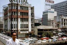 1967 Manila - Savory Restaurant and Pan Am Building (ctto) Philippine Architecture, Philippine Art, Intramuros, Manila Philippines, Spanish Colonial, Pinoy, Old Town, Street View, Restaurant