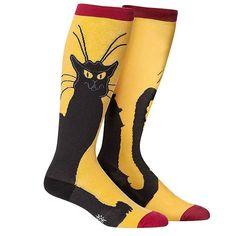 Sock It To Me Women's or Men's Stretch It Knee High Socks, Chat Noir