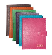 Personalized Bright Leather Brag Book @studioNotes