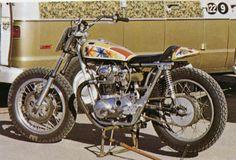 Yamaha XS650 Dirt Tracker. Saddleback Park 1970. Vintage Japanese Motorcycles.