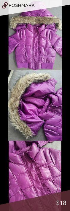 CIRCO TODDLER GIRL PUFFY WINTER COAT Circo TODDLER GIRL size 3t PURPLE  detachable hood puffy coat  Nice condition Circo Jackets & Coats Puffers